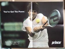 JENNIFER CAPRIATI Original Vintage Prince Poster