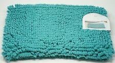 "Poppy Park Home 17"" x 24"" Chenille Loop Microfiber Braided Bath Rug - Teal"