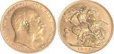 Grossbritannien, 1 Souvereign 1907, Eduard VII. f.vz