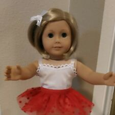 FITS 18 inch AMERICAN GIRL DOLL ~CHRISTMAS TUTU ~DOLL CLOTHES ~SKIRT ~ RED  4791