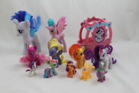 My Little Pony G4 Lot of 11 MLP Figures Carriage Rarity Sunset Shimmer Princess