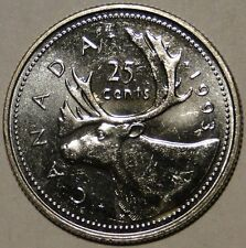 BU UNC Canada 1993 quarter 25 cent 25c from mint roll