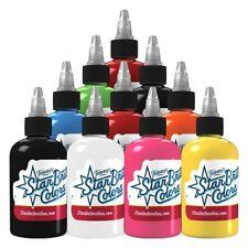 Starbrite Tattoo Ink Top Seller Palette Set 10 Bright Color 2 oz Bottle USA