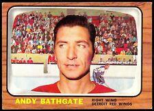 1966 67 TOPPS HOCKEY #44 ANDY BATHGATE EX-NM DETROIT RED WINGS N Y RANGERS