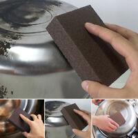 Emery Foam Rub Sponge Pot Rust Eraser Removing Brush Kitchen Cleaner Tool