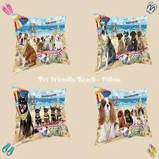 Pet friendly Beach Pillow, Dogs, Cats, Pet Photo Lovers Pillow Gifts, Dog Pillow