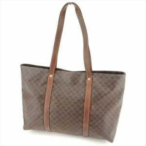 Celine Tote bag Macadam Brown Woman Authentic Used S852