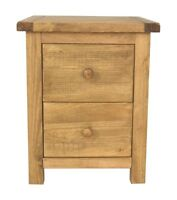 2 Drawers Bedside Table / Bedside Cabinet with wood knobs and FREE delivery