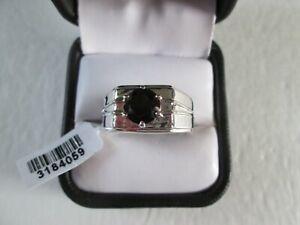 Mens Thai Black Spinel Platinum bond Ring TGW 2.50 cts.