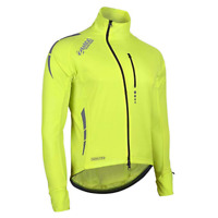 Zimco Pro Men Winter Cycling Jackets High Viz Bicycle Jersey Windproof Thermal