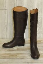 Nine West Velika Leather Riding Boot Womens Size 5M Dark Brown