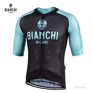 NEW Bianchi Milano VALCONCA Aero Cycling Jersey : BLACK
