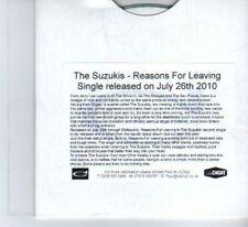 (DF324) The Suzukis, Reasons For Leaving - 2010 DJ CD