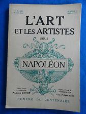 L'ART ET LES ARTISTES  SOUS NAPOLEON  1921