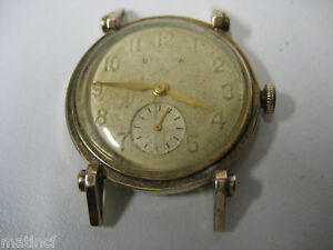 Antique 10K Gold Filled BULOVA  Gent Watch
