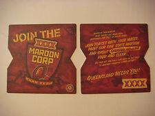 Beer Coaster ~ Castlemaine Perkins XXXX Maroon Corp 2009 ~ Queensland, AUSTRALIA