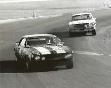 Vintage 8X10 Auto Racing Photo 1967 Daytona Penske Camaro No. 36 & Mustang No.72