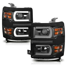 Anzo Projector Plank Style Switchback Headlights for 14-15 Silverado 1500 111412