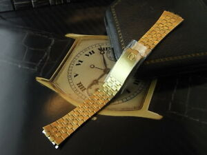 RARE NOS 70'S OMEGA GOLD PLATED FOR OMEGA SEAMASTER WATCH BAND REF.1356.349 / 42