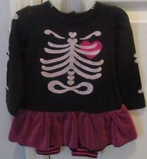NWT Halloween costume baby sleep play outfit 6-9 mth 16-19lb 2pc skeleton infant