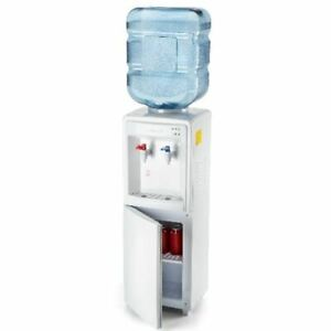 Farberware Freestanding Compact Water Cooler Hot and Cold  Dispenser, White