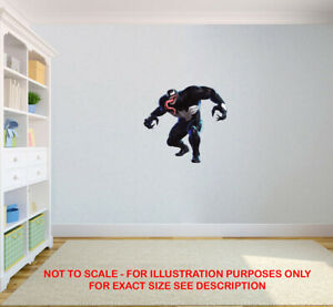 VENOM MARVEL SUPERHERO CHILDREN KIDS BEDROOM VINYL DECAL WALL ART STICKER