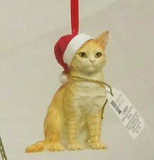 American Shorthair stone resin Cat ornament by Country Artists from Enesco 00524