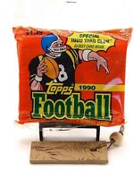 🔥💰📈 1990 Topps Football Jumbo Cello Pack MINT ! BO RICE SANDERS MONTANA !