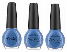 LOT OF 3 - NICOLE by OPI Nail Polish/Lacquer I SEA YOU AND RAISE YOU Light Blue