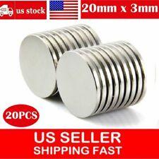 20pcs Super Strong 20mm X 3mm N52 Round Disc Rare Earth Neodymium Magnet Us