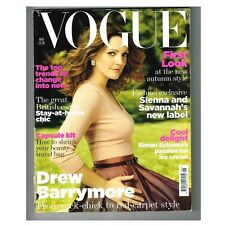 Vogue Magazine August 2007 MBox2591 Drew Barrymore From rock - chick to red carp