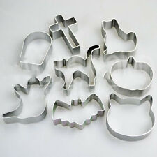 8pcs/Set Christmas Cake Decoration Baking Mold Tool DIY Cookie Cutters Halloween