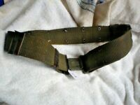 K4 USED ORIGINAL MILITARY BELT WITH METAL EYELETS 190 CM