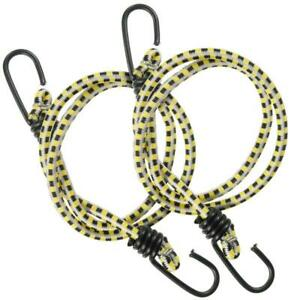 Keeper 36 In. Bungee Cord With Coated Hooks(2-Pack)