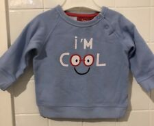 Baby Size 3-6m Sprout Blue I'm Cool New NWOT Top 00 Pullover Track Top