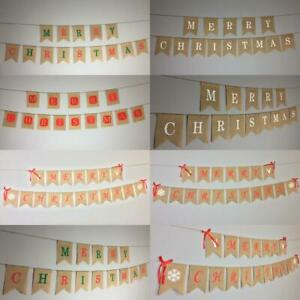 Merry Christmas Bunting Garland Hanging Banner Home Decoration XMAS Party