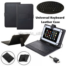 """Leather Stand Case Cover with USB Keyboard For 7"""" 10"""" 10.1"""" Brand New Tablet PC"""