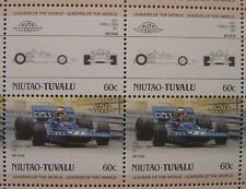 1971 TYRRELL FORD F1 GP Jackie Stewart Car 50-Stamp Sheet / Leaders of the World