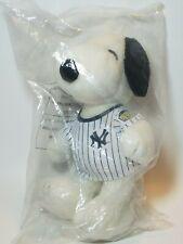 "New York Yankees 9"" Snoopy Plush Doll SGA Pinstriped Jersey Metlife NYY Baseball"