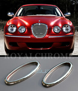 US STOCK 2X CHROME Side Marker Trims for JAGUAR S-TYPE XJ Daimler Vanden Plas XK