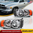 for 2002-2005 Dodge Ram 1500 2500 3500 Chrome Headlights Headlamps Left+Right  for sale