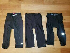LOT OF 3 Novara Terry Nishiki Cycling black padded Knickers tights Large
