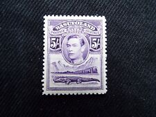 Basutoland: 1938 5/- violet mounted mint