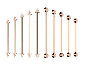 ROSE GOLD Industrial Bar Scaffold Barbell Ear Piercing Bar Surgical Steel
