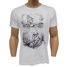 Oakley BLACK BEARD T-Shirt Size XL Extra Large White Mens Print Slim Fit Shirt