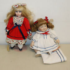"Lot of Five (5) Porcelain Dolls, 9-16"" Tall, No Boxes"