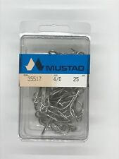 Mustad 35517 Size 4/0 Open Eye Treble Hook Box of 25