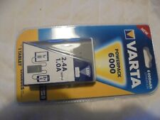 Varta Powerpack 6000 2.4A 1.0A Output Lithium Iron For Smartphones NEW & SEALED
