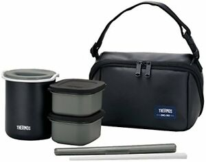 THERMOS Thermal Heat insulation Lunch Box container Chopsticks Set JAPAN