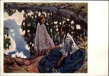 1927 Russland Künstlerkarte Kunst Museum Москва́ Moskau Art Vintage Postcard